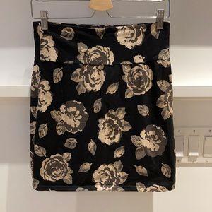 Talula Bodycon Floral Print Skirt